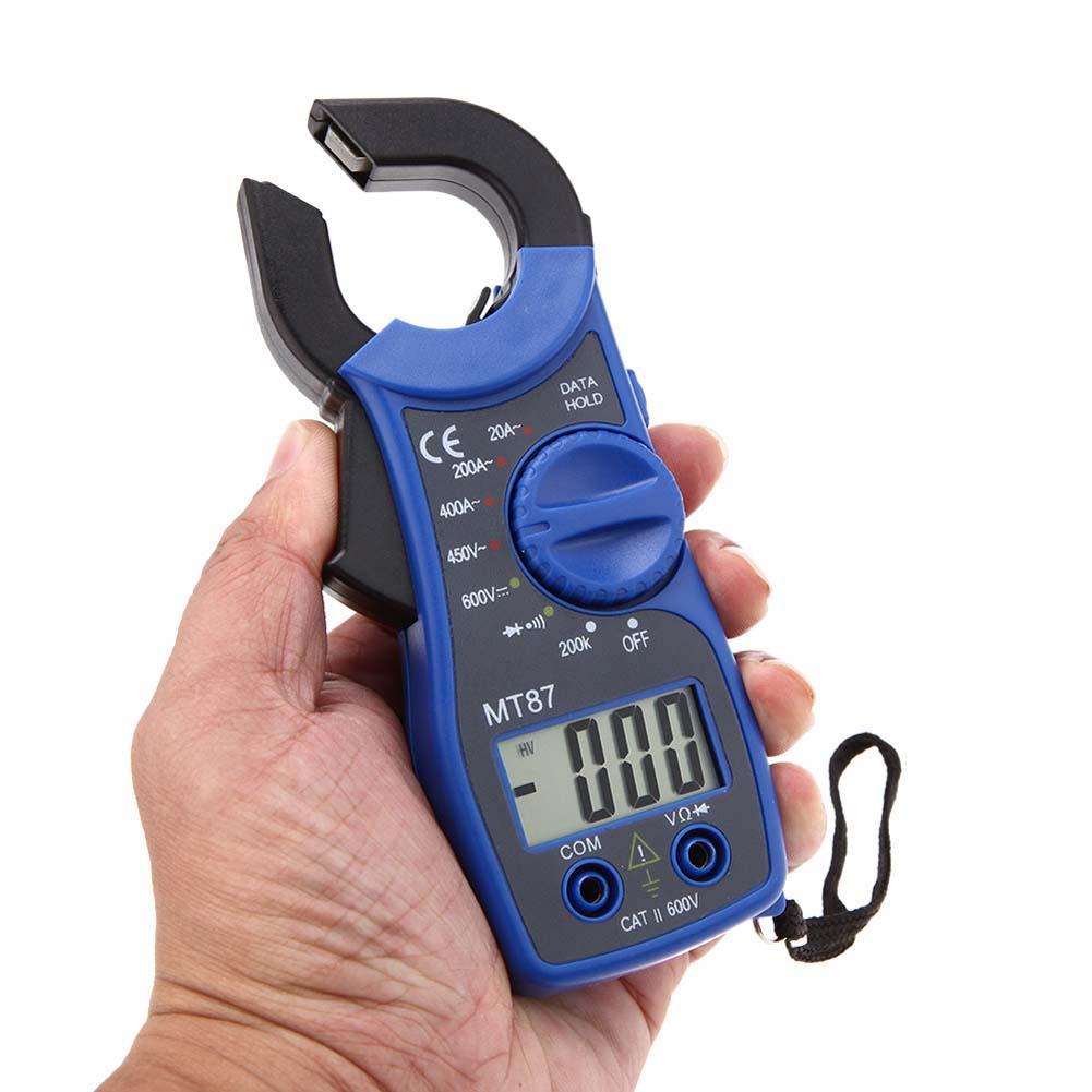 LCD Digital Voltmeter Ammeter Ohmmeter Multimeter AC/DC Test Clamp Meter Blue voltage meter measuring instrument PJW<br><br>Aliexpress