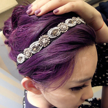 Vintage Bohemian Crystal Rhinestone Pearl Beaded Women's Headbands Girls Hair Band Jewelry New Hair Accessories