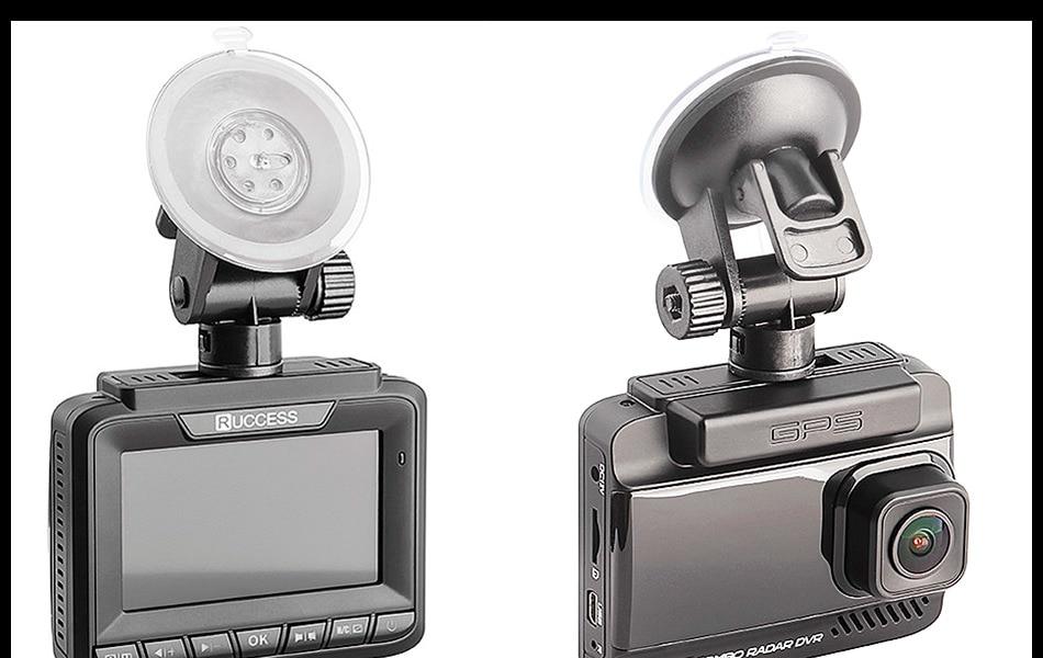 Ruccess 3 in 1 Car Radar Detector DVR Built-in GPS Speed Anti Radar Dual Lens Full HD 1296P 170 Degree Video Recorder 1080P 21