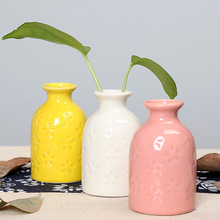 Modern Ceramic Vase Flower Bottle Plant Hydroponic Container Artificial Flower Vases Office Home Wedding Decoration