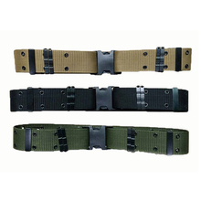 Outdoor tactical S belt Outdoor military equipment Knitting training belt Outdoor sports tactical belt(China)