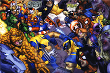 A-167 Custom Marvel Fight #E Home Decor Fashion modern For Bedroom Wall Poster Size 27x40cm Wall Sticker #83&167YI