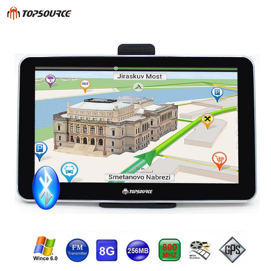 Topsource  Car Truck Vehicle Gps Navigation Mtk Cemhz M Gb Gps Map For Navitel Espanolukeuropeusaspanish