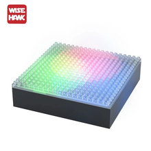 Wisehawk hot nano blocks lighting display base and case box for plastic diamond building bricks diy micro action figure showing