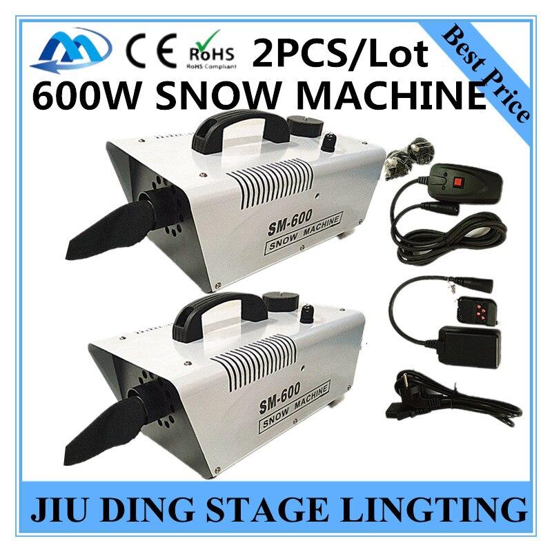 2PCS/  600W snow machine / remote Wire control AC110-240V wedding snow machines professional DJ equipment<br><br>Aliexpress