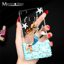 Buy Bling Crystal Diamond Rhinestone Cover Huawei P9 Lite 3D Handmade Glitter Hard Back Phone Case Huawei Ascend P9 Lite for $4.36 in AliExpress store
