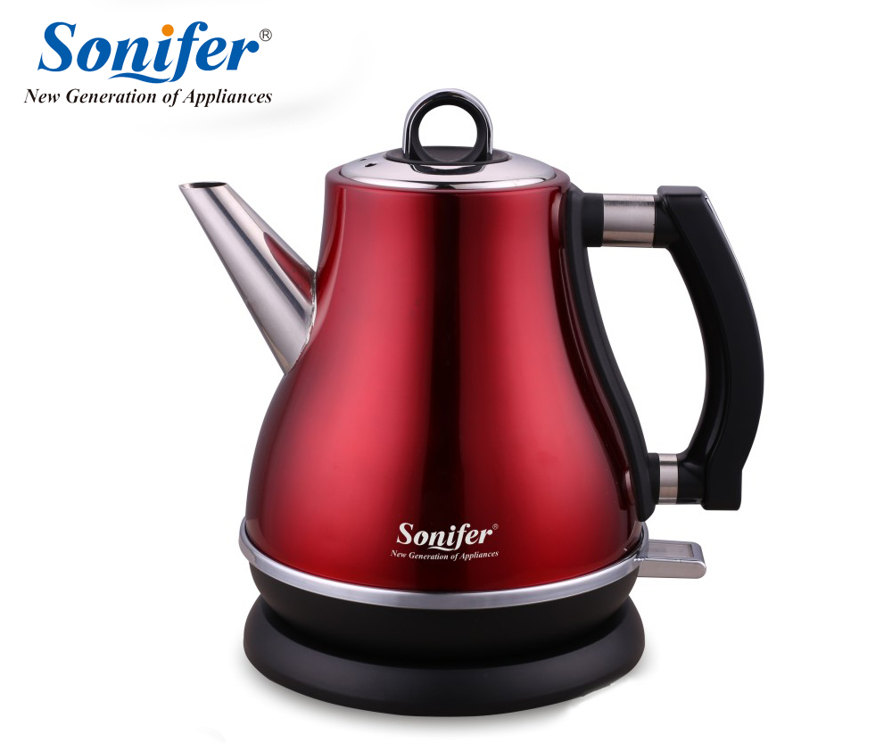 1.2L Colorful 304 Stainless steel Electric Kettle 1500W Household 220V Quick Heating Electric Boiling Pot Sonifer<br>