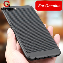 GerTong Breathable Phone Case Oneplus 5 Hard PC Heat Dissipation Breathable Back Cover Shell Oneplus 5 A5000 5.5 Inch