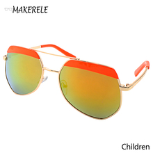 2017 Vintage Kids Fashion new designer childrens sunglasses metal Grey ants Private label buy from makerele glasses online(China)