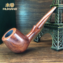 All solid wood rosewood pipe ,straight bucket  novice  red pear classic log straight handle pipe,smoking Men's gift