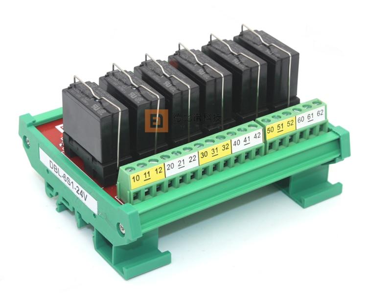 6 Channel Relay Module 24VDC I/O Rack Module Circuit Board 1NO1NC<br><br>Aliexpress