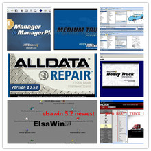 v10.53 alldata software hdd 1tb +mitchell on demand for audi for vw+mitchell heavy truck all car truck data new(China)