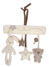 Lovely Music Plush Activity Crib Stroller Baby Soft Toys Hanging Rabbit Star Shape