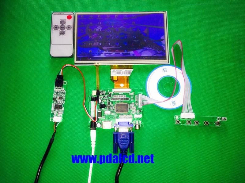 skylarpu for INNOLUX Raspberry Pi LCD Touch Screen Display TFT Monitor AT070TN92 + Touchscreen Kit HDMI VGA Input Driver Board<br>