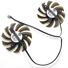 New Power Logic 75MM PLD08010S12HH 12V 0.35A Twin Frozr II 2 MSI R6790 N560GTX R6850 N460GTX Graphics Video Card Dual Cooler Fan