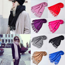 2016 NEW Couple Scraf Winter Scarf Cashmere Women Long Scarf Wrap Shawl Solid Knit Warm Scarves Pashmina(China)