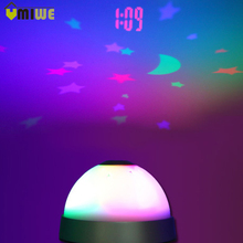 Magic Electronic Alarm Clock Colorful Starry Projection LED Digital Projector Clock Luminova Wake Up Alarm Clock Battery Powered