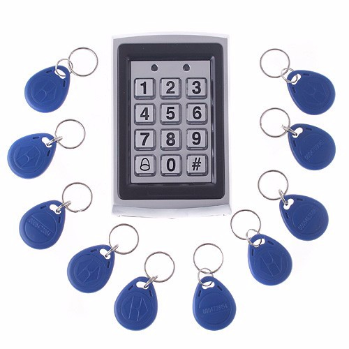 125KHZEM card Keypad Metal Standalone Access Control  door access RFID 125KHZ card keypad without key<br>