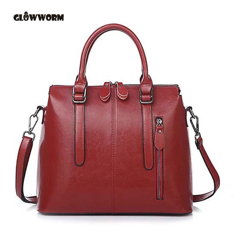 Women Casual Tote Genuine Leather Handbag Bag Fashion Vintage Large Shopping Bag Designer Crossbody Bags Big Shoulder Bag Female<br>