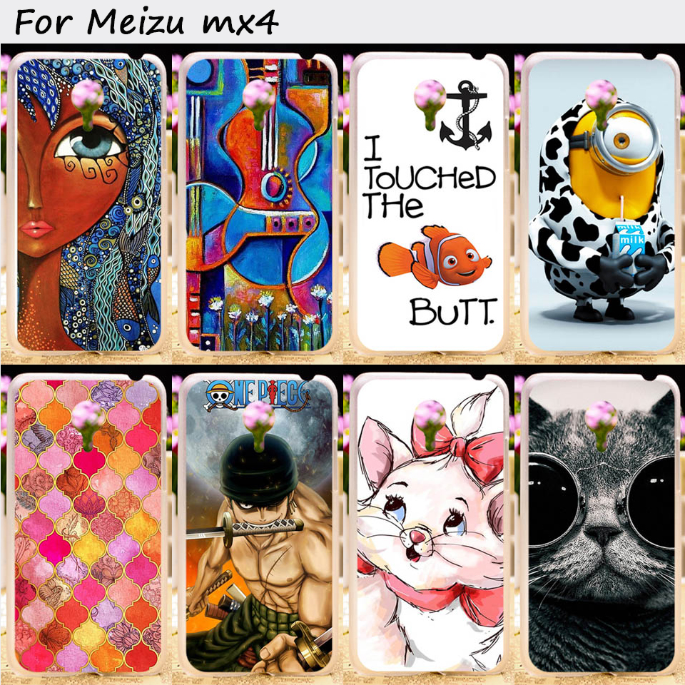 Hard Plastic and Soft TPU Mobile Phone Cover For Meizu MX4 MX 4 IV MX IV MXIV Cases Ships From Shenzhen China Cell Phone Bags(China (Mainland))