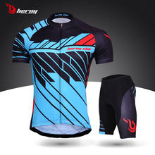 2017 New Arrival  Cycling Jersey Set Mens Short Sleeve Bike Bicycle Sportswear Ropa Ciclismo Outdoor Breathable Cycling Clothing