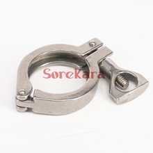 "1.5"" TrI Clamp fit 50.5mm Ferrule O/D 304 Stainless Steel Tri Clamp Sanitary Fitting for home Brewing"