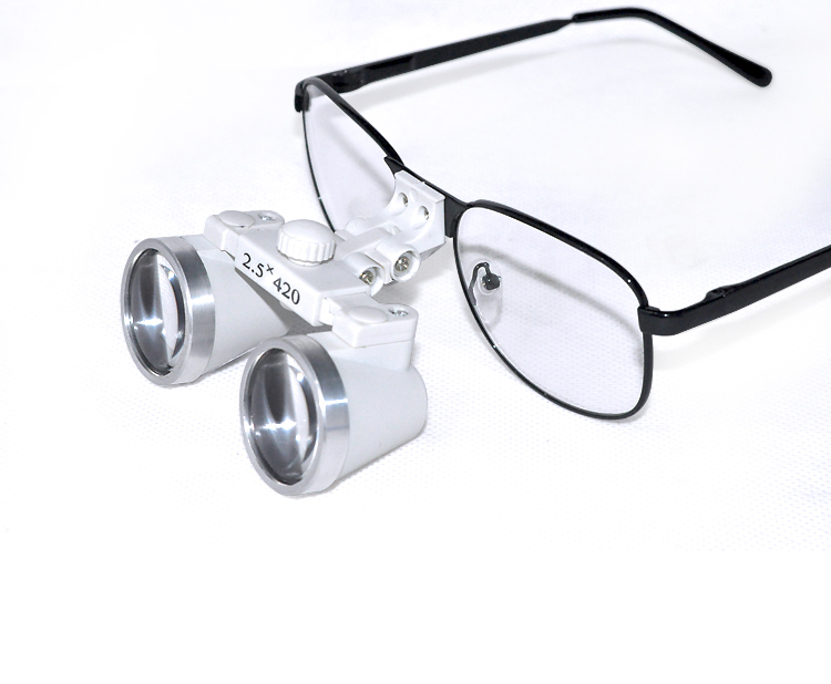 100%New Dentist Dental Surgical Medical Binocular Loupes 2.5X 420mm Optical Glass Loupe<br>