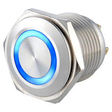 (20 pieces/lot) stainless steel 16mm short body LED momentary NO ring illuminated push button switch