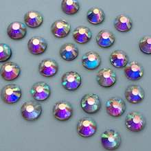 140pcs SS16 AB Flatback Clear Hot Fix Shiny Rhinestones Crystal Trims For Clothing Boots Bags Heat Transfer Hotfix