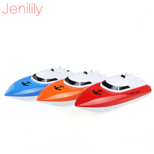 Jenilily charging outdoor toys radio control RC 4 Channels Waterproof Mini speed boat Airship JN802 as gift for children(China)
