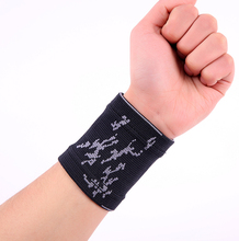 Black striped breathable wristband spandex sports hand wrist support pads protector  free shipping #ST6811