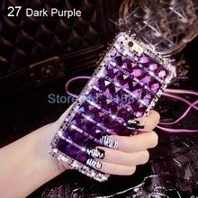 2015 new handmade fashion 3d elegant high-grade bling case for iphone 3GS Transparent Clear Bling Diamond Case