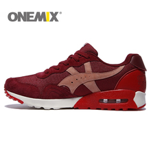 New Arrival onemix Classics Style Men Running Shoes Lace Up Walking Athletic Shoes Women Outdoor Jogging Sport Shoes(China)
