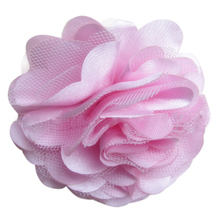 FBIL 10pcs/lot Chic Fabric Flowers for Headband Satin Mesh Rose Flowers 9cm Light Pink(China)