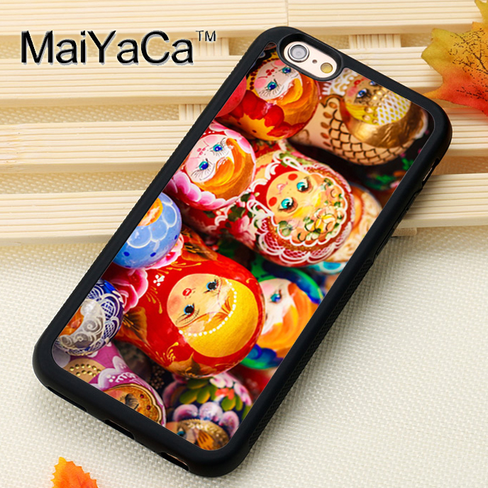 Russian Nesting Dolls Pattern Soft Rubber Mobile Phone Cases For iPhone 6 6S Plus 7 7 Plus 5 5S 5C SE 4 4S Cover Bags Skin Shell(China (Mainland))
