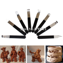 8pcs/set  Pottery Wheel Tool Ceramic tools/Polymer clay/Craft/trimming Sculpting Sculpt Smoothing Carving Hand Tool
