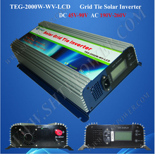 mppt dc 45-90v to ac 220v 230v 240v solar grid-tie inverter 2000w(China)