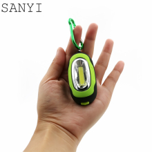 Mini Keychain Pocket Torch COB LED Flash Light Flashlight Lamp 25Lm 3 Modes Multicolor Mini-Torch With Button Battery