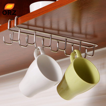 Stainless Steel Kitchen Storage Rack Cupboard Hanging Hook Shelf Dish Hanger Chest Storage shelf Bathroom Organizer Holder(China)