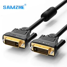 SAMZHE 1080P DVI Cable DVI 24+1 Pin Male to Male 1m/1.5m/2m/3m/5m/8m/10m DVI to DVI Cable Adapter for Projector Laptop TV(China)