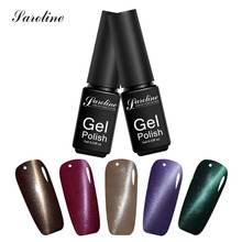 Saroline 3D Bling Glitter Pink Purple Red Gel Varnish Manicure Fingernail UV Gel Polish 3D Magnet Cat Eye Gel Nail Polish(China)