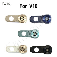 TWTR High Quality for Lg v10 Camera Glass + Frame + Button full set Back Camera Lens Cover Repair part F600 H968