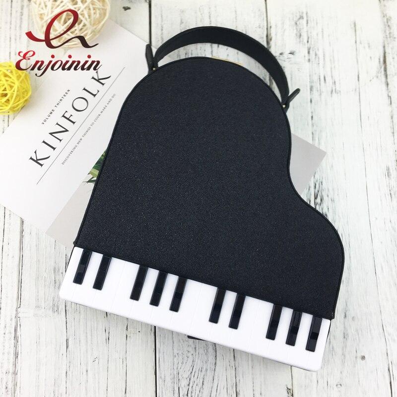 Personality piano style ladies box shape party fashion handbag shoulder bag Pu Leather Femal totes crossbody messenger bag <br>