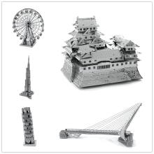 JWLELE Famous buildings over the world puzzle toy 3D Metal assembling model Creative gifts DIY etching Trade price