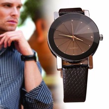 NEW Men's Business Casual Quartz 2 Colors Leather Band Sport Military Wrist Watchs Best Gift