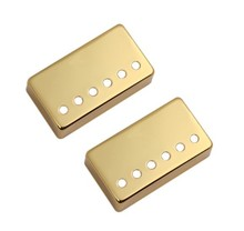 52mm+50mmLP series electric guitar pickup metal cover LP pick-up sealed shell Golden copper shell