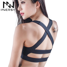 Innersy Women Sexy Yoga Shirt Padded Sports Bra Push Up Wireless Dry Fit Tank Tops For Running Fitness Gym Bras WX001