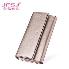 Genuine Leather Wallets 2015 New Women Long Purse Lady Candy Wallet Cutis Fashion Female Purse(China)