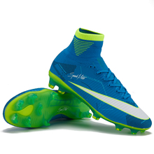 Newest Football Boots Men High Ankle FG Superfly Soccer Shoes Original Hard-wearing Kids Outdoor Soccer Boots Cleats Wholesale(China)