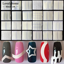 Wholesale 24pcs Nails Sticker Tips Guide French Manicure Nail Art Decals Form Fringe Guides DIY Sencil Styling Beauty Tools(China)
